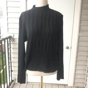 St. John Collection Textured Knit MockNeck Sweater